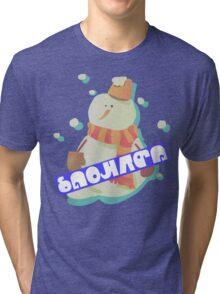 Splatfest - SNOWMAN Tri-blend T-Shirt