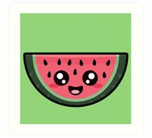 Kawaii Watermelon Art Print