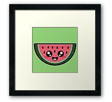 Kawaii Watermelon Framed Print