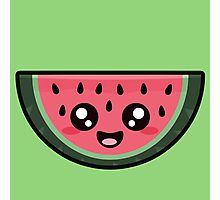 Kawaii Watermelon Photographic Print