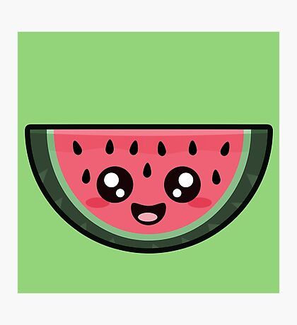 Kawaii Watermelon Photographic Print