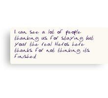 Liam payne tweet Canvas Print