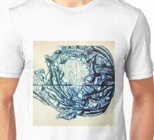 Califlower print (blue version) Unisex T-Shirt