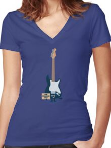 Character Building - TRake me down to the paradise city Women's Fitted V-Neck T-Shirt