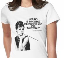 Nothing Is (Im)Possibile Womens Fitted T-Shirt