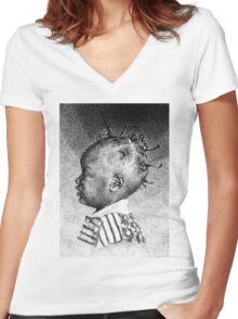 Promise Women's Fitted V-Neck T-Shirt