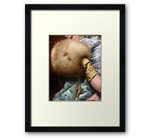 Woman With A Fur Muff, Spanish Old Master painting Framed Print