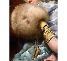 Woman With A Fur Muff, Spanish Old Master painting Photographic Print