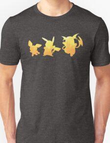 Pichu, Pikachu & Raichu - Flat T-Shirt