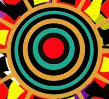 Tribal Sun Dial Sticker