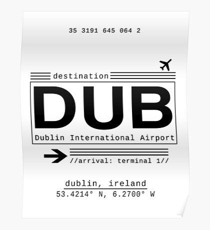 DUB Dublin International Airport Poster