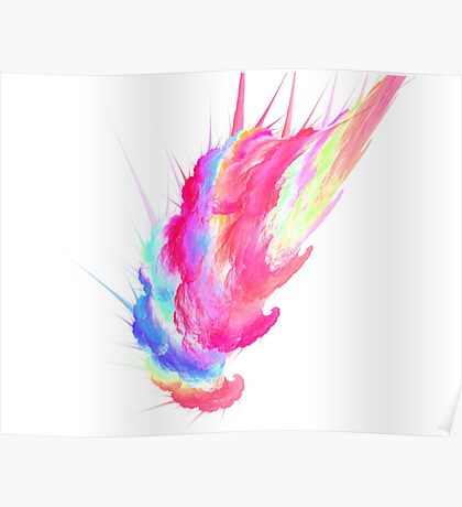 Cotton Candy Fractal Poster