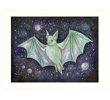 Space Bat  Art Print