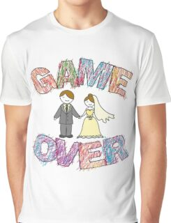 Funny wedding, Game Over. Graphic T-Shirt
