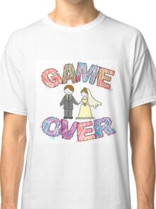 Funny wedding, Game Over. Classic T-Shirt