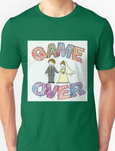 Funny wedding, Game Over. T-Shirt