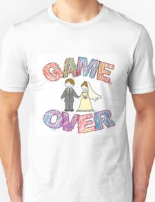 Funny wedding, Game Over. Unisex T-Shirt