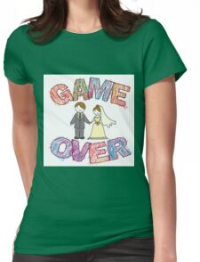 Funny wedding, Game Over. Womens Fitted T-Shirt