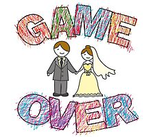 Funny wedding, Game Over. Photographic Print