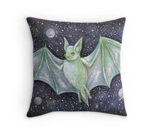 Space Bat  Throw Pillow