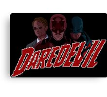 Daredevil pixel logo Canvas Print