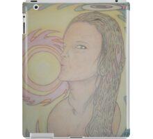 Kissing the sun, Halo on fire iPad Case/Skin