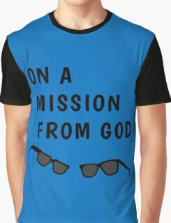 "Blues Borthers: ""On a Mission From God"" Graphic T-Shirt"
