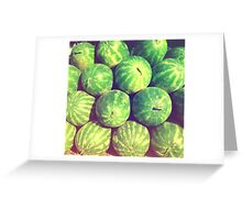 Watermelons Babe Greeting Card