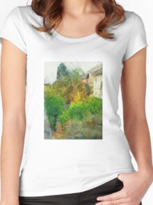 Trees in the neighborhood Women's Fitted Scoop T-Shirt