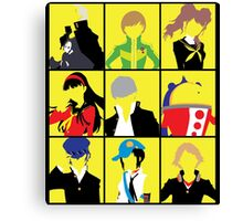 Persona 4 golden cast Canvas Print