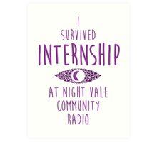 I survived Internship! Art Print