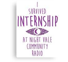 I survived Internship! Canvas Print
