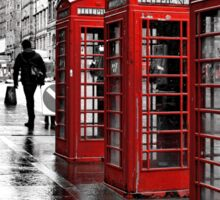 Red Telephone Boxes Sticker