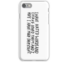 Words iPhone Case/Skin