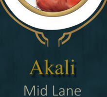 League of Legends - Akali Banner (Bloodmoon) Sticker