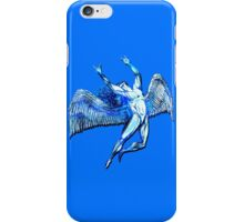 ICARUS THROWS THE HORNS - bright blue iPhone Case/Skin