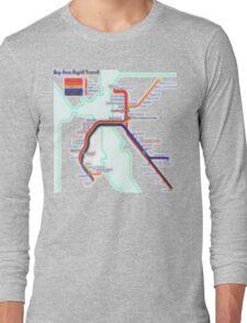 San Francisco BART Map Long Sleeve T-Shirt