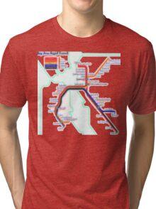 San Francisco BART Map Tri-blend T-Shirt
