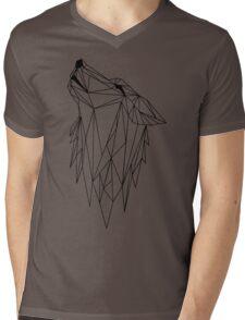 polygonal wolf  Mens V-Neck T-Shirt