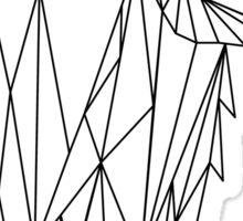 polygonal wolf  Sticker
