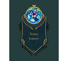 League of Legends - Sona Banner (Kinetic) Photographic Print