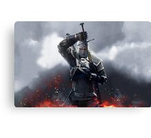 The Witcher III Work Geralt :) Canvas Print