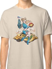 Pin Up Samus Bomber Girl Classic T-Shirt
