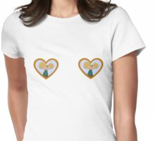 Helgas locket Womens Fitted T-Shirt