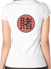 Tsunade's Gambling Emblem Women's Fitted Scoop T-Shirt