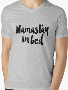 Namastay In Bed Mens V-Neck T-Shirt