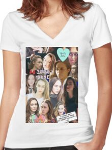 Alycia Debnam Carey Collage Women's Fitted V-Neck T-Shirt