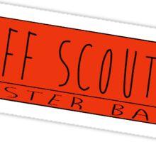 Bluff Scout Booster Bar Sticker Sticker