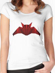 polygonal bat Women's Fitted Scoop T-Shirt