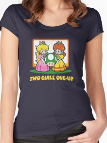 Mario Bros. Two Girls, One Up  Women's Fitted Scoop T-Shirt